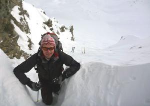 Skidepot unterhalb Schöntalspitze