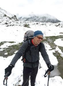 Ronald im Hochmoor mit Schnee