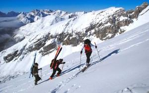 Aufstieg Pleisenspitze in glatter Spur