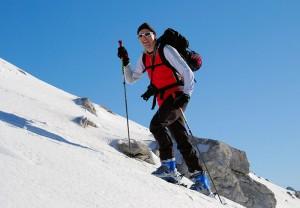 Ronald Aufstieg Skitour Pleisenspitze