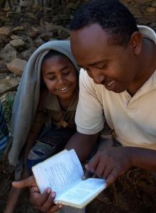 Bibelschüler und Tsegaye