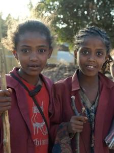 Schülerinnen in Lalibela