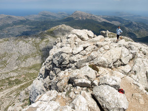 Rundblick vom Puig de Massanella über die Insel Mallorca