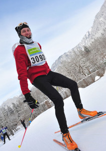 Skaten bei extremer Kälte am Schloss Linderhof