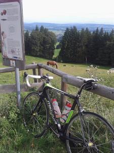 Rennrad auf Auerberg