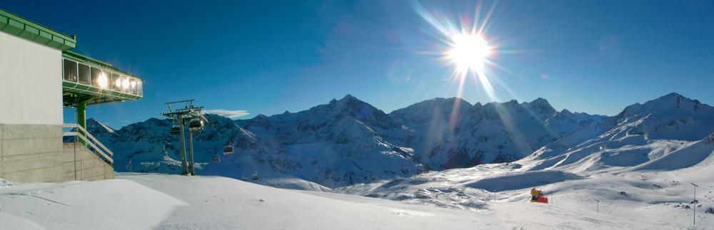 Panorama Skigebiet Kühtai