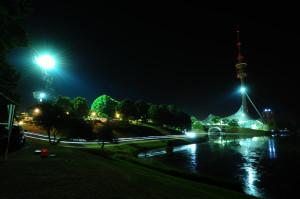 Nächtlicher Olympiapark