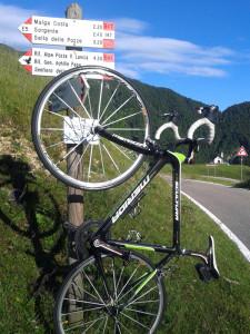 Rennrad am Passo Borcola