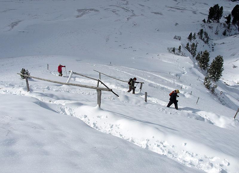 Aufstieg zum Schnee zur Schlüterhütte