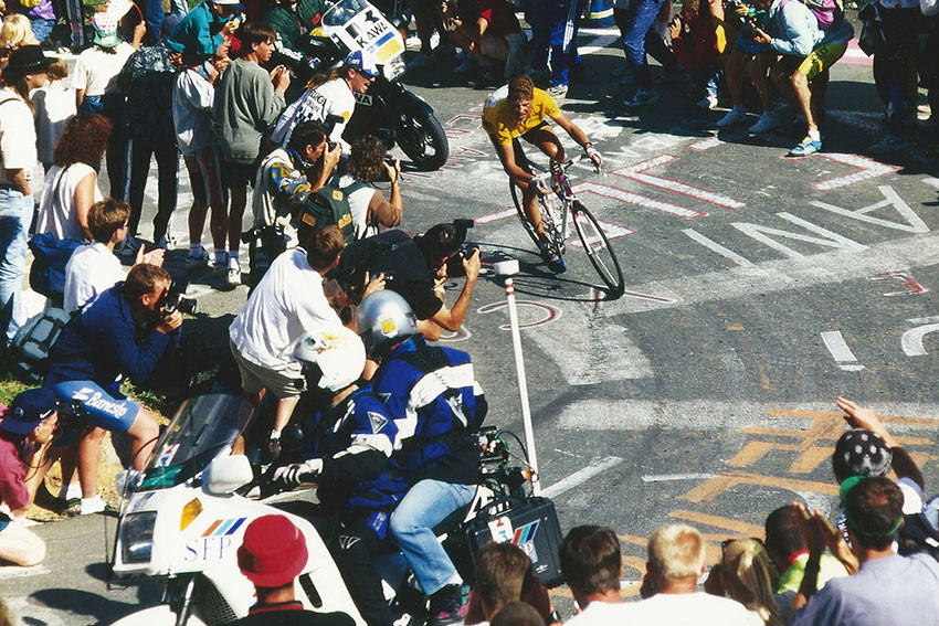 Jan Ullrich im Gelben Trikot bei der Tour de France 1997