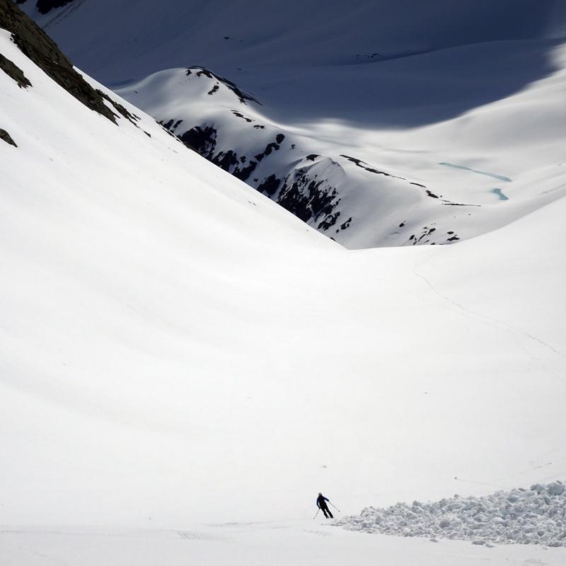Skiabfahrt Kraspressee