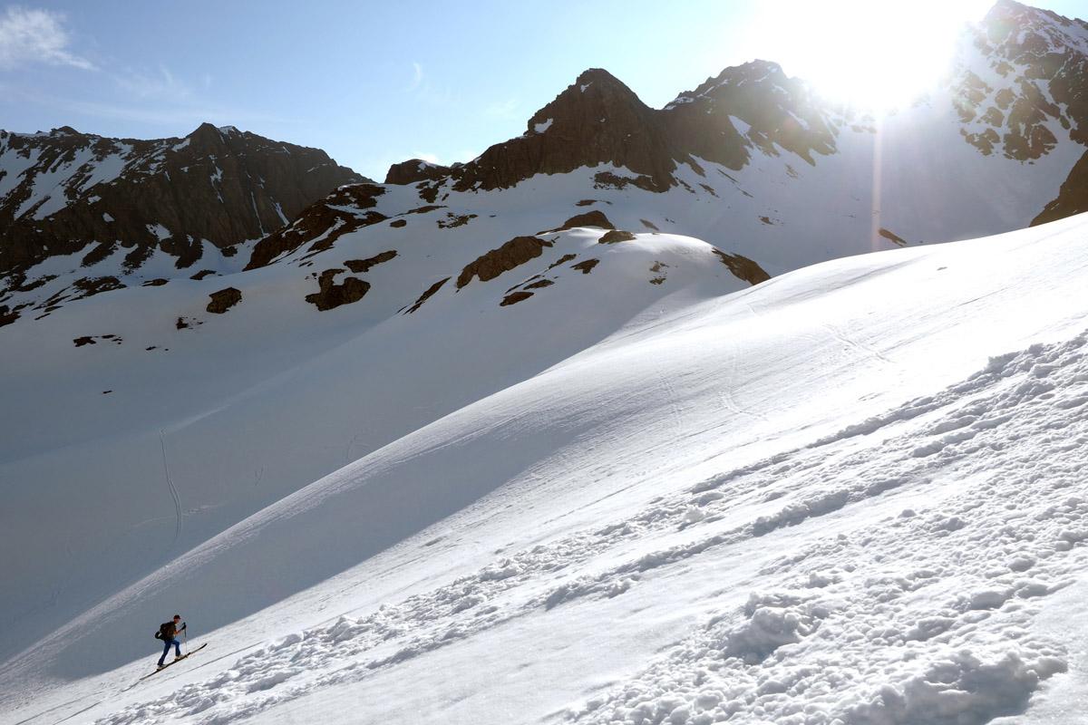 Skiaufstieg Fnstertal im Juni